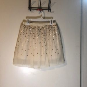 Cream color skirt with gold detail